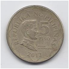 FILIPINAI 5 PISO 2012 KM # 272 VF