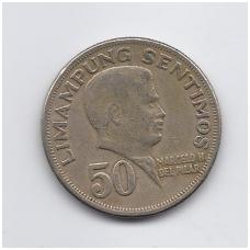 FILIPINAI 50 SENTIMOS 1972 KM # 200 VF