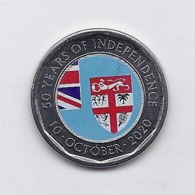 FIDŽIS 50 CENTS 2020 KM # new UNC Nepriklausomybė