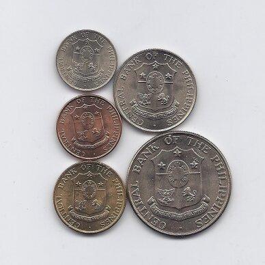 FILIPINAI 1958 - 1966 m. 5 MONETŲ RINKINYS 2