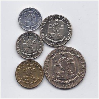 FILIPINAI 1967 - 1974 m. 5 MONETŲ RINKINYS 2