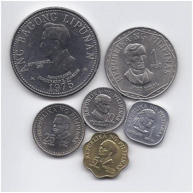 FILIPINAI 1975 - 1982 m. 6 monetų rinkinukas