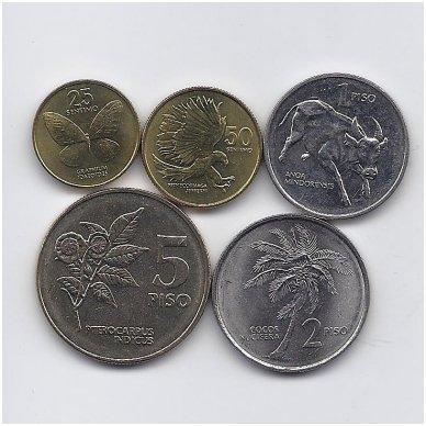 FILIPINAI 1991 - 1994 m. 5 monetų rinkinys