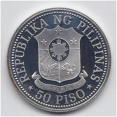 FILIPINAI 50 PISO 1975 KM # 212 PROOF FERDINAND E. MARCOS 2