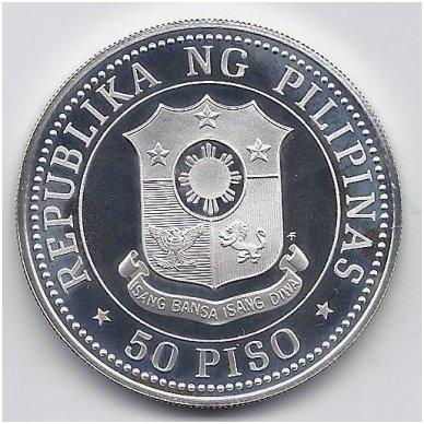 FILIPINAI 50 PISO 1979 KM # 229 PROOF VAIKŲ TEISĖS 2