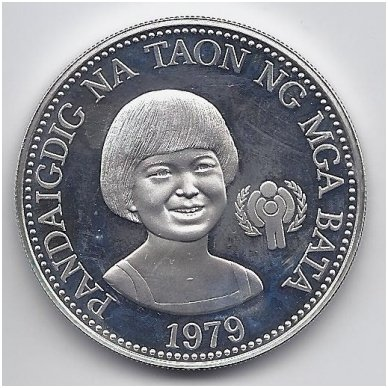 FILIPINAI 50 PISO 1979 KM # 229 PROOF VAIKŲ TEISĖS