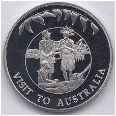 FOLKLANDO SALOS 50 PENCE 2002 KM # 91 UNC VIZITAS Į AUSTRALIJĄ