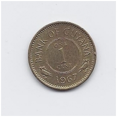 GAJANA 1 CENT 1967 KM # 31 VF