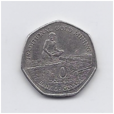 GAJANA 10 DOLLARS 1996 KM # 52 VF
