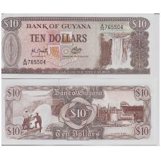 GAJANA 10 DOLLARS No date P # 23f UNC