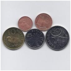 GAMBIJA 1998 - 2016 m. 5 UNC monetų rinkinys