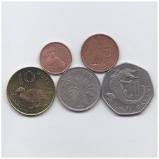 GAMBIJA 1998 m. 5 XF monetų rinkinys