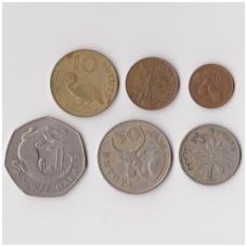 GAMBIJA 1971 - 1987 m. 6 monetų VF rinkinukas