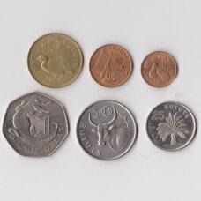 GAMBIJA 6 monetų XF rinkinukas 1971 - 1987 m.