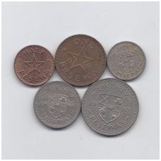 GANA 1967 m. 5 monetų rinkinys