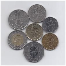 GANA 1984 - 1998 m. 7 monetų rinkinys