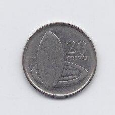 GANA 20 PESEWAS 2007 KM # 40 VF