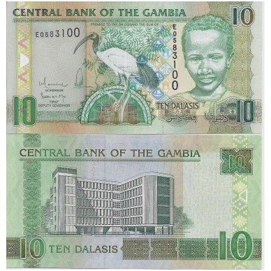 GAMBIJA 10 DALASI 2006 ND P # 26b UNC