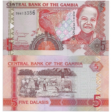 GAMBIJA 5 DALASI 2006 ND P # 25a UNC