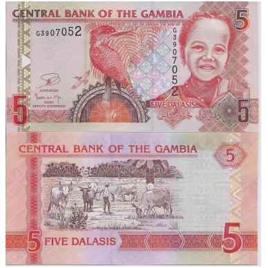 GAMBIJA 5 DALASIS 2006 (2013) P # 25 UNC