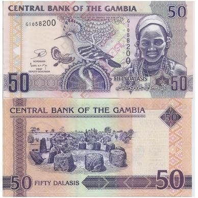 GAMBIJA 50 DALASIS 2006 P # 28c AU