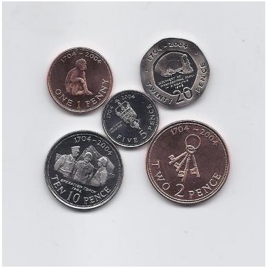 GIBRALTARAS 2004 m. 5 monetų rinkinukas