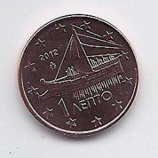 GRAIKIJA 1 EURO CENT 2012 KM # 181 UNC