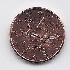 GRAIKIJA 1 EURO CENT 2004 KM # 181 UNC
