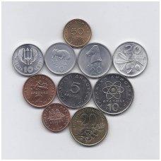 GRAIKIJA 1973 - 2000 m. 10 monetų rinkinukas