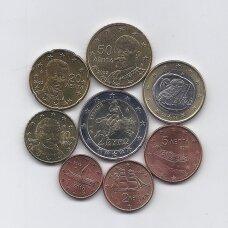 GRAIKIJA 2002 m. pilnas euro komplektas