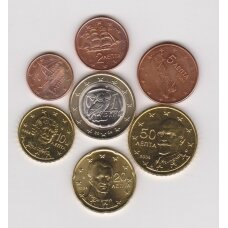 GRAIKIJA 2004 m. euro komplektas be 2 eurų