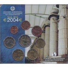 GRAIKIJA 2004 m. OFICIALUS BANKINIS RINKINYS (KORTELĖJE)