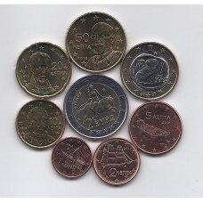 GRAIKIJA 2007 - 2010 m. pilnas euro monetų rinkinys
