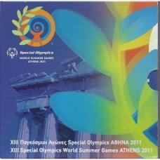 GRAIKIJA 2011 m. OFICIALUS BANKINIS RINKINYS SU SIDABRINE 10 EURŲ MONETA (AKROPOLIS)
