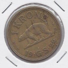 GRENLANDIJA 1 KRONE 1926 KM # 8 VF