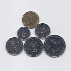 GRUZIJA 1993 m. 6 monetų rinkinukas