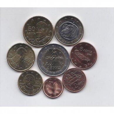 GRAIKIJA 2003 m. pilnas euro monetų rinkinys