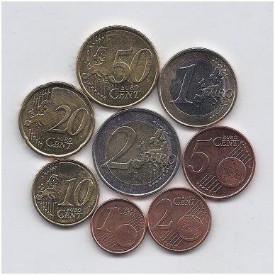 GRAIKIJA 2009 m. euro monetų komplektas ( monetos su defektais ) 2