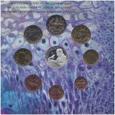 GRAIKIJA 2012 m. OFICIALUS RINKINYS SU PROGINE 10 EURŲ MONETA 2