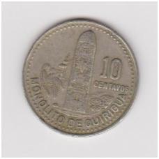 GVATEMALA 10 CENTAVOS 1988 KM # 277.5 VF