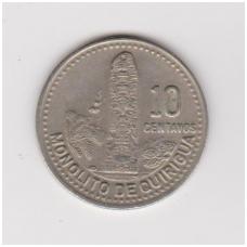GVATEMALA 10 CENTAVOS 1988 KM # 277.5 XF