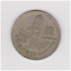 GVATEMALA 10 CENTAVOS 1989 KM # 277.5 VF