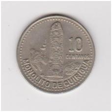 GVATEMALA 10 CENTAVOS 1989 KM # 277.5 XF
