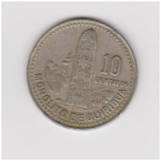 GVATEMALA 10 CENTAVOS 1990 KM # 277.5 VF