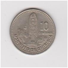 GVATEMALA 10 CENTAVOS 1990 KM # 277.5 XF