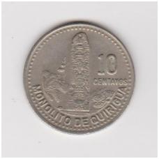GVATEMALA 10 CENTAVOS 1991 KM # 277.5 XF
