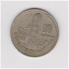 GVATEMALA 10 CENTAVOS 1992 KM # 277.5 VF