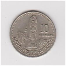 GVATEMALA 10 CENTAVOS 1992 KM # 277.5 XF