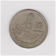 GVATEMALA 10 CENTAVOS 1993 KM # 277.5 VF
