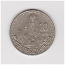 GVATEMALA 10 CENTAVOS 1993 KM # 277.5 XF